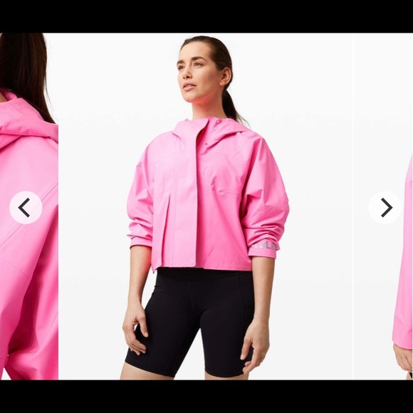 Rain chaser jacket in prism pink